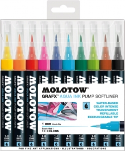 Molotow Aqua Ink Pump Softliner 10 Set 1