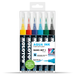 Molotow Aqua Ink Pump Softliner 6 Set 1